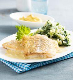 Kartoffel-Stielmus-Stampf mit Senfsoße und Bratfisch von Einfach Hausgemacht, Mein Magazin für Haus und Küche