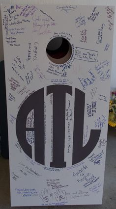"Corn Hole Board ""Guest Book""..Guests sign the corn hole board ... special messages to the bride and groom"