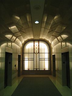 Art Deco shapes and reflections.