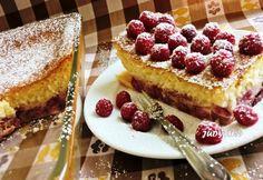 Mennyei málnás tejes pite - clafoutis egyszerűen French Toast, Cheesecake, Breakfast, Food, France, Cheesecake Cake, Cheesecakes, Hoods, Meals