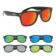 4726e26c75 Mirrored Malibu Sunglasses - Promotional Sunglasses personalized with your  custom imprint or logo.