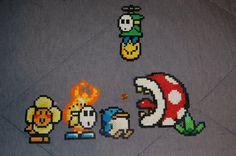 Yoshi's Island Enemies Perler by evilpika