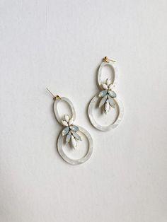"925 Sterling Silver Classic GARNET 3 STONE DESIGNER UNUSUAL Stud Earrings 0.7/"""