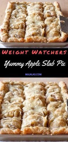 Yummy Apple Slab Pie - My list of the best food recipes Apple Pie Recipes, Ww Recipes, Diabetic Recipes, Gourmet Recipes, Cooking Recipes, Ww Apple Pie Recipe, Healthy Recipes, Diabetic Foods, Deserts