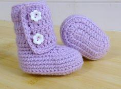Crochet Baby Booties in Lavander size 03 36 69 912 by JCrochetShop 00718b62da5a2