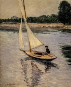 Gustave Caillebotte, Sailing Boat on the Seine near Argenteuil, 1893. Wallraf-Richartz Museum, Cologne