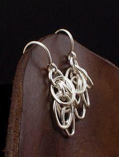 Shaggy Elegance Sterling Silver Earrings by unkamengifts on Etsy, $18.00