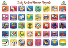 Clip Art Of Daily Activities Clipart - Clip Art Library Daily Routine Planner, Daily Routines, Kids Planner, Clip Art Library, Kids Schedule, Schedule Cards, Chore Chart Kids, Chore Charts, Visual Schedules
