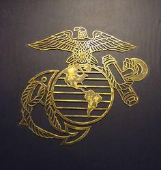 Plasma Cut US Marine Corps Eagle Globe And by FortunatusMetalWorks