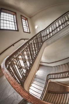 Fluid Stairs by • ian, via Flickr  taken at Dallas Hall at SMU in Dallas