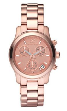 love! rose gold watch
