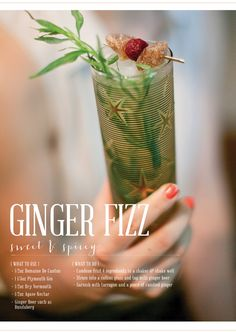 Ginger has been used for centuries as a medicinal aid. It is used to help  digestion, uneasy stomach, fevers and even is considered to be an  aphrodisiac in some African cultures. Those all might be true, however this  recipe focuses only on how delicious it can be when paired with Gin.  Domaine De Canton & Bundaberg Ginger Beer are the key ingredients here,  paired with a great gin, this cocktail is sure to please. Cheers!  recipe by gingerandbirch    image by lily glass