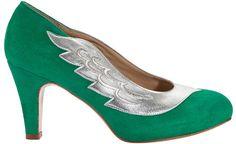 LITTLE LULU GREEN   MINNA PARIKKA Online Shop - May these shoes lead you to new… Pumps, Heels, Peep Toe, Green, Shopping, Fashion, Heel, Moda, Fashion Styles