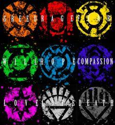 Lantern Corp Symbols Fine Art Print