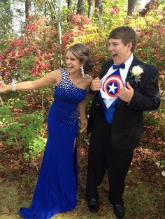 Katlyn Rice and her date rocked prom superhero style! #prom2014