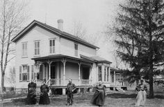 Julius and Elizabeth Schule Alberding's home in Malta, De Kalb County, Illinois, 1903.