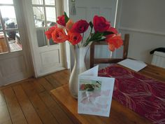 spring crepe paper tulips