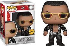"""Get in the ring with Dwayne """"The Rock"""" Johnson! This WWE superstar measures approximately 3 tall as a Pop! The WWE The Rock Old School Pop! Vinyl Bobble Head comes packaged in a window display box. Ages 3 and up. Pop Action Figures, Funko Pop Figures, Pop Vinyl Figures, Wwe Funko Pop, Funko Pop Vinyl, The Rock Dwayne Johnson, Dwayne The Rock, Wwe Pop Vinyl, The Undertaker"""