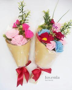 Colorful Lovenia Bouquet, Buket Bunga Flanel Lovenia  visit us on instagram: @lovenia.florist