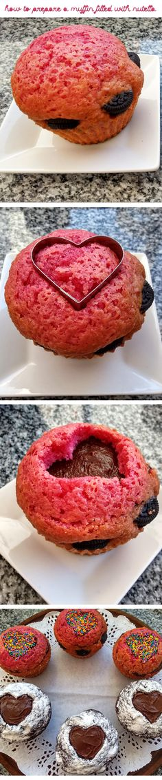 How to prepare a muffin filled with nutella <3