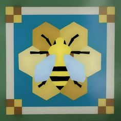 Bumble Bee Barn Quilt Square – Cindy Leah Belanger