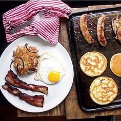 When the morning calls for bacon eggs sausage pancakes & hashbrowns the BakingSteel griddle is your friend. There's room for everyone on here!  Find it at the link in bio. : @andrislagsdin #f52home by food52