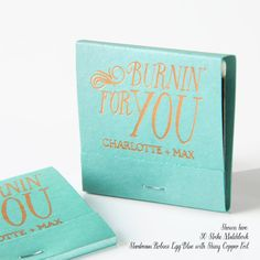 BURNIN' FOR YOU Personalized Matchbooks by PicturePerfectPapier