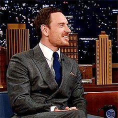 Michael Fassbender's fantastic smile
