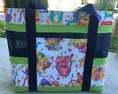 Tote Bag Yoga Lotus Flower Fabric And Vinyl Mesh 40 00