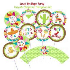 Cinco de Mayo, De mayo and Cupcake toppers on Pinterest