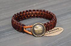 Leather Paracord Style Macrame Bracelet Antique