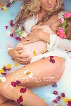 Milk bath after birth