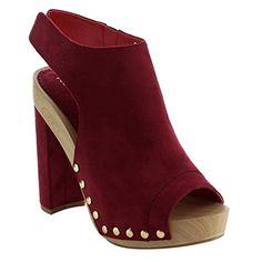 cbdd8d058cf86 online shopping for Reneeze Women s Peep Toe Studded High Heel Dress Party  Sandals from top store. See new offer for Reneeze Women s Peep Toe Studded  High ...