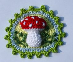 Ravelry: Toadstool Patches x4 - Crochet Pattern, PDF pattern by CAROcreated design
