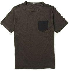 Alexander Wang Contrast-Pocket Cotton-Jersey T-Shirt