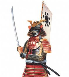 Samurai armour, made of metal or leather plates