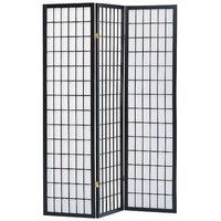 "Sam 70"" x 52"" 3 Panel Room Divider with Rice Paper Paneling"