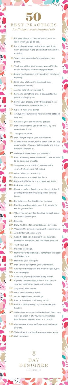 Fifty Best Practices for Living a Well-Designed Life | Day Designer® • 2016 Daily Planner