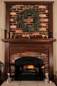 Jeff Harshbarger made the mantels above all three of the home's fireplaces from the wood of a walnut tree that had to be removed to dig the home's basement.