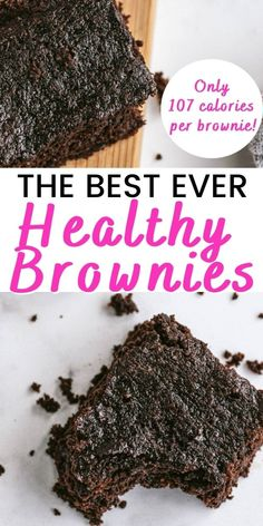 Looking for a Healthy Brownie Recipe? Look no further - these Healthy Brownies are so freaking delicious, dairy-free, gluten-free, grain free, and the best part? They are not even a treat swap on the 21 Day Fix and only 5 points on WW, no matter the plan!Perfect for a date night treat, Valentines Day at home, dessert for a new mom, or just a healthy chocolate option for your sweet tooth. Healthy Chocolate Desserts, Healthy Brownies, Healthy Dessert Recipes, Healthy Treats, Clean Eating Recipes, Clean Eating Brownies, Healthier Desserts, Healthy Baking, Eat Healthy