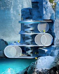 The CIRCULAR VILLA by ANTIREALITY is a conceptual design of a summer house situated within a cliff recess. The key to this project was to design the house that shape integrates into the structure of the rocky landscape. #architecture #architect #amazingarchitecture #design #interiordesign #interiordesigner #decor #homedecor #home #house #luxury #diy #travel #amazing #photography #realestate #casa #arquitecto #arquitectura #decoration #cliffhouse #cliff #nature #sea #vray #render #surrealism