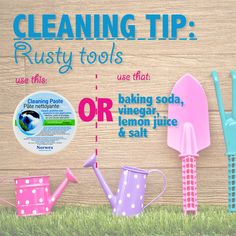 Accidently left your yard tools in the rain? Don't worry! We can help get that rust right off! Norwex Cleaning Paste is great for cleaning off any lightly rusted items in an earth-friendly way. No Cleaning Paste around? Try using baking soda, vinegar, lemon juice and salt!