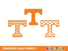 Tennessee Volunteers Power T Chevron SVG DXF Vector Art by SVGTREE, $5.00