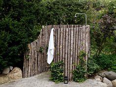 how to hide an outdoor bathroom
