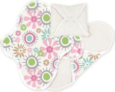 ImseVimse Lot de 3 serviettes hygiéniques lavables en coton biologique Motif fleuri: lot de 3 serviettes hygiéniques lavables en coton bio…