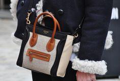 Nano Celine Luggage Shopper. I partially blame celine nano luggage for starting the trend of 'mini' bags. GAH pretty