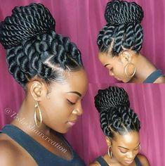 23 Eyecatching Twist Braids Hairstyles for Black Hair - Haare - Twist Braid Hairstyles, African Braids Hairstyles, Girl Hairstyles, Black Hairstyles, Hairstyles Pictures, Hairstyles 2016, Gorgeous Hairstyles, Layered Hairstyles, Summer Hairstyles