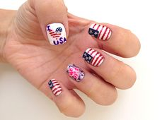 18 Best 4th Of July Nail Art Designs, Polish Shades, Wraps -- Stars, Stripes, Marbling, Sponge, Red, White, Blue Trends