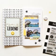 Today I'm up on the @felicityjanestudio blog sharing a traveler's notebook spread featuring the beautiful Jane kit! I've started documenting photos from our cruise last year in this FJ insert. For closeups and more details about this spread, pop on over to the Felicity Jane blog. (link in my profile) #felicityjanestudio #fjcreativeteam #fjjane #travelersnotebook #scrapbooklayout