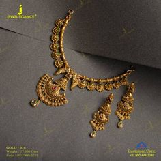 Make your look royal with gold jewelry. Get In Touch With us on Gold Bangles Design, Gold Earrings Designs, Gold Jewellery Design, Gold Haram Designs, Gold Necklace Simple, Gold Jewelry Simple, Simple Necklace Designs, Necklace Set, Gold Temple Jewellery